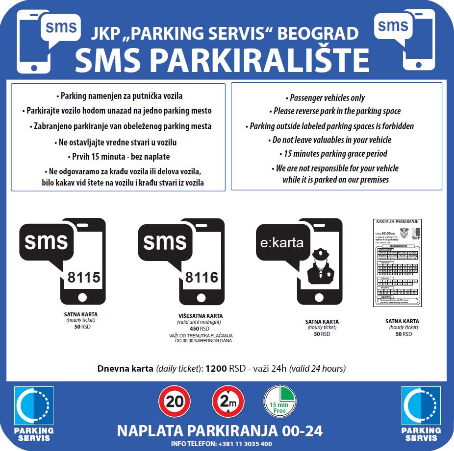 kucni red na sms parkiralistima